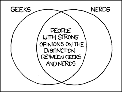 Geeks and Nerds Venn