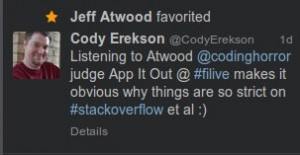 Jeff Atwood Favorited